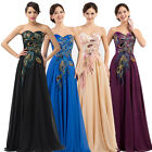 Plus Size 20 22 24 26 PEACOCK Long Formal Party Evening Wedding Gown Maxi Dress