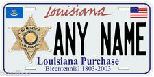 Louisiana Sheriff Any Name Number Novelty Car License Plate