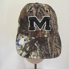 Mississippi Ole Miss Rebels Camouflage Cap Blue New With Tags Velcro  Mossy Oak