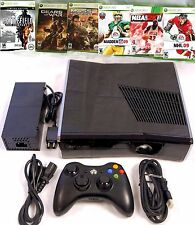 Microsoft XBOX 360 S Slim 8GB Console Bundle System + 6 Games NFL Mass Effect 2