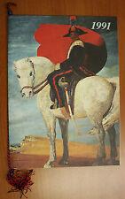 Calendario Storico Arma dei Carabinieri 1991 con cordoncino e Dedica #L300
