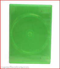 6 Pack NEW XBox 360 Game 1 Disc Box GREEN Transparent Premium DVD Case Holder