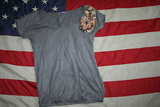 Womens RHEA & CO. Embellished Gray Top Size Small: shirt/casual/dressy  #2588