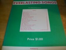 1953 EVERLASTING SONGS BY OWEL W. DENSON/ DENSON MUSIC PUBLISHING CO, B'HAM, AL