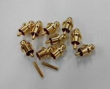 10pcs x Noise Stopper Gold Plated Copper Cap Dust Protector RCA Plug Caps
