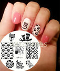 Cute Owls Nail Art Stamping Stamp Template Image BORN PRETTY Steel Plate #54