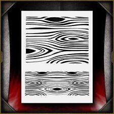 Wood Grain Texture Airbrush Stencil Template Airsick