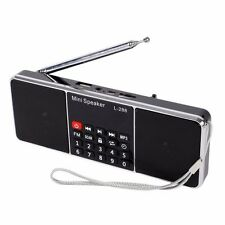 USB Bluetooth Digital AM FM Radio Mini Speaker MP3 Music Player Dual 2CH BOR