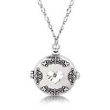 Disney Couture White Gold-Plated Alice in Wonderland Pocket Watch Necklace