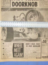 JACQUES VILLENEUVE WHEEL MEET AGAIN INDIANAPOLIS SPEEDWAY ARTICLE THE SUN 1984