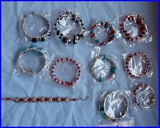 JOB LOT OF 11 X TIBET SILVER BANGLES, ASSORTED COLOURS, NEW ONLY £1.50