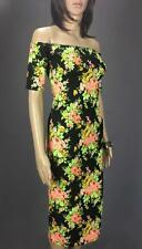 ** MISSGUIDED ** BNWT * Size 8 Black  Flower Bodycon Womens Occasion Party Dress
