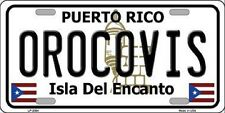 OROCOVIS Puerto Rico Novelty State Background Metal License Plate