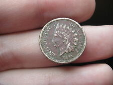 1861 Indian Head Cent Penny- Scarce Date -VG/Fine Details