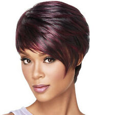 Women Short pixie cut style wig with bangs straight Synthetic Costume wigs Gift
