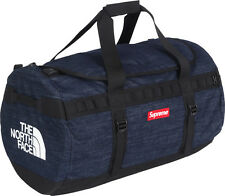 SUPREME x The North Face Denim Base Camp Duffle Bag box logo camp cap tnf S/S 15