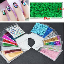 50Sheets Starry Paper Shimmer Nail Art Foils Wraps Holographic Laser Stickers