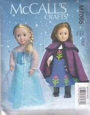 "McCALL'S SEWING PATTERN CRAFT FROZEN 18"" DOLL CLOTHES  Size OSZ M7065"