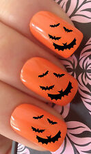 HALLOWEEN NAIL ART SET #674 x12 VAMPIRE BATS WATER TRANSFER DECALS STICKERS