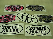 ZOMBIE HUNTER KILLER OVAL Decal Wholesale LOT Target Pink Camo Killer Window Gun