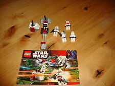Star Wars Lego 7655 X3  Clone Battle Packs 100% complete sets