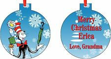 Personalized Dr. Seuss Ornament ( Add Any Message You Want)