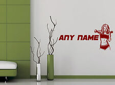 Personalised Fitness Any Name Gym Window Wall Sticker Decals Bedroom Decor
