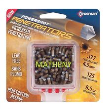 Crosman Gold Powershot Penetrators .177Cal 4.5mm Hunting Pellets 125Ct Airgun BB