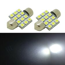 2 x Hyper White SMD LED Map Dome Light 31mm Festoon DE3175 3022 Bulbs