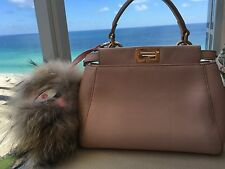 NWT Fendi Peekaboo Micro Leather Light Pink Bag