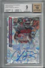 CHARLES SIMS 2014 CRACKED ICE ROOKIE TICKET AUTO RC #D 14/22 BGS 9 w 10 AU POP 3