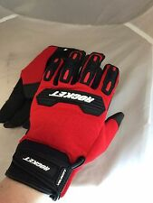 JOE ROCKET MENS VELOCITY 2.0 MESH RED MOTORCYCLE GLOVES  LARGE  TOUCH FINGER