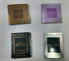 Bvlgari - 4 Different Fragrances - Mini SAMPLE VIAL EDT Perfume 1.5 ml each