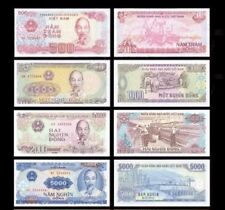 Vietnam - 500, 1000, 2000 and 5000 dongs -  UNC currency notes