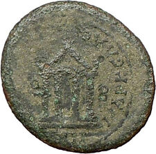 Greek City 1st Cent BC Authentic  Ancient Greek Coin Athena Cult Temple  i28179