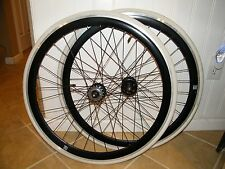 "(2) 26"" TOTO CYCLING WHEEL, FRONT & REAR, BLACK MSW, CHENG SHIN TIRE, USED"