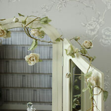 cream rose flower wire garland wedding home girly accessories bedroom pretty
