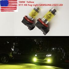 4300K Yellow H11 H8 Fog Light SAMSUNG 2323 LED 100W Driving Projector DRL Bulbs
