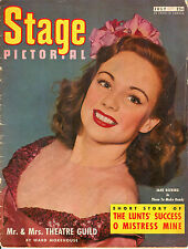 Stage Pictorial - July 1946 - Jane Deering cover, 25¢ price Theater Magazine