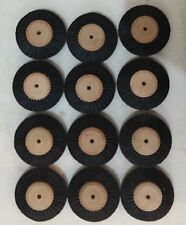 1 Dozen Wood Hub 4 Row Wheel Brush Polishing Dental Jewelers Tools Style #11