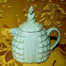 VINTAGE SADLER *YE DAINTEE LADYEE* PALE BLUE TEAPOT MADE IN ENGLAND as is