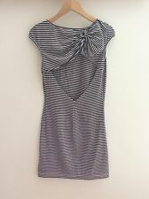 Anthropologie Stripe Dress Summer Beach Bow Detail Size S 8 10.