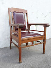 fauteuil de bureau déb XXème  Art and crafts Armchair stuhl