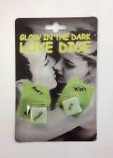 GLOW IN THE DARK LOVE DICE ADULT NAUGHTY GIFT JOKE