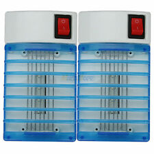 2x LED Socket Electric Mosquito Fly Bug Insect Trap Night Lamp Killer Zapper NEW