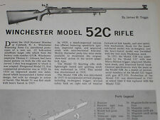 WINCHESTER MODEL 52C RIFLE EXPLODED VIEW
