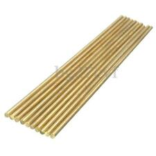 10X RC Helicopter Hardware 200mm x 3mm Brass Axle Round Rod Stick Circular Bar