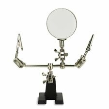 SE Helping Hands Soldering Hobby Station with Magnifying Glass Work Weller Craft