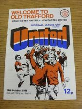 27/10/1976 Manchester United v Newcastle United [Football League Cup] (Folded).