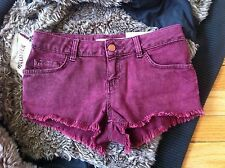 NWT TOPSHOP MOTO HOTPANT IN RED WINE COLOR US 4 / UK 8 / EUR 36 (W26/W66cm) SEXY